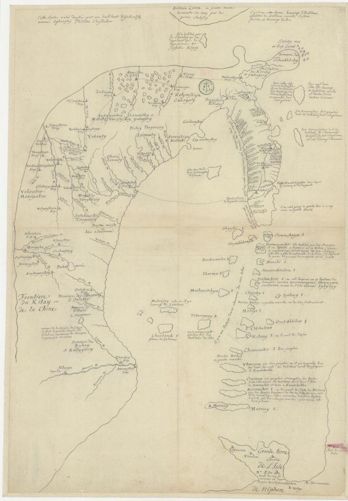 Карта Тихоокеанского побережья Дальнего Востока, 1726 года