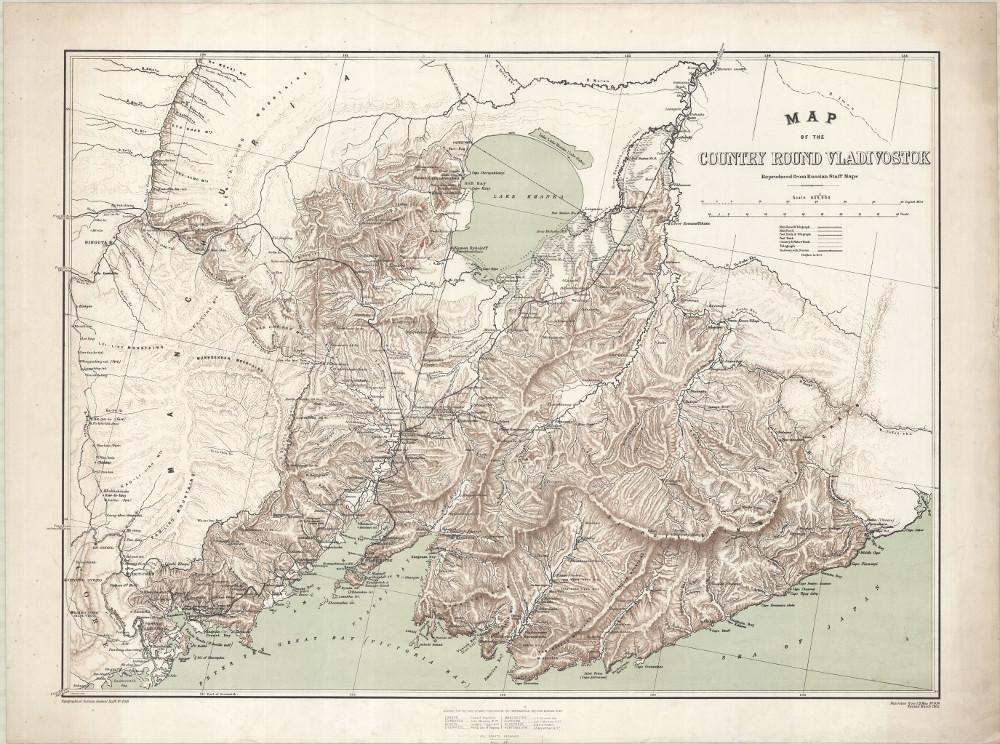 Карта Приморья, 1905 г.