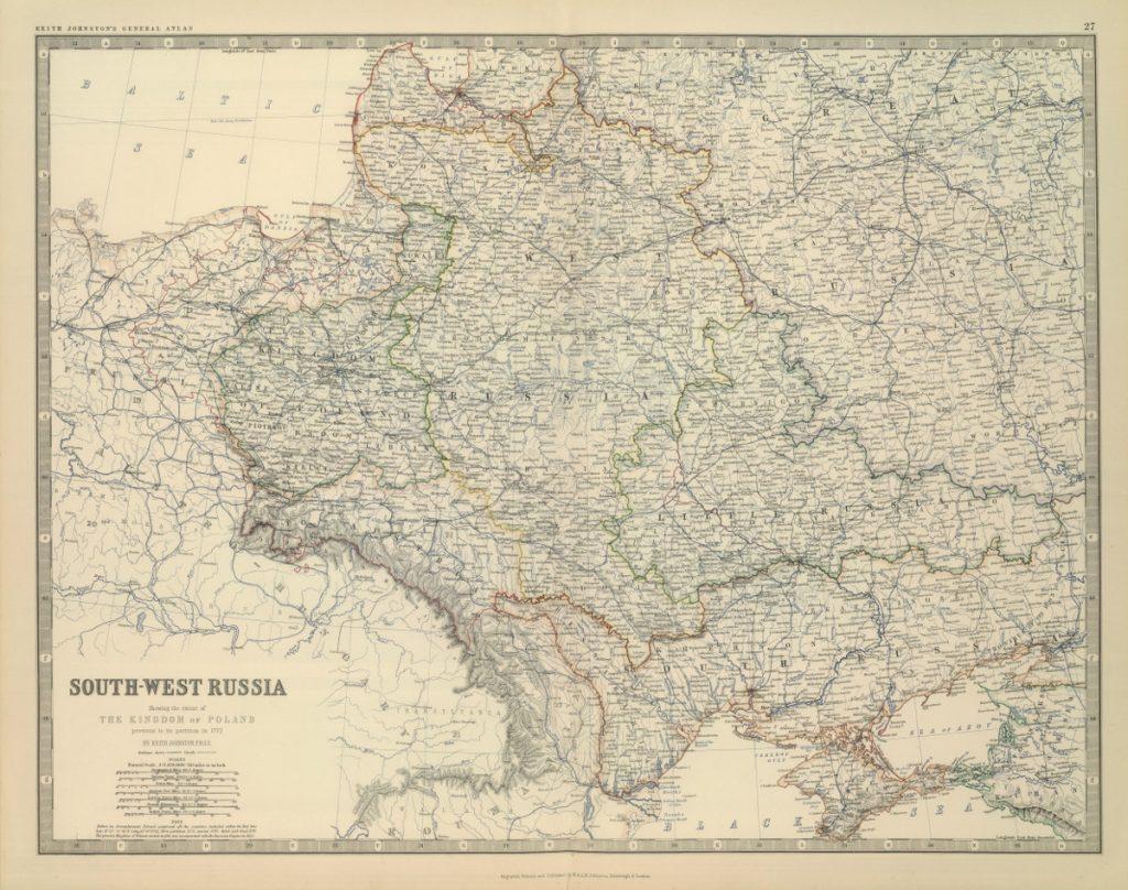 Карта юго-западной России, 1819 г.