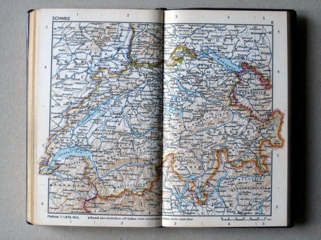 Карта Швейцарии, 1967 г.