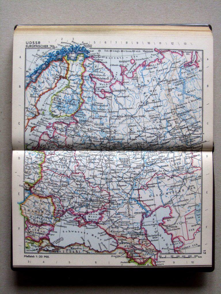 Карта СССР, 1967 г.