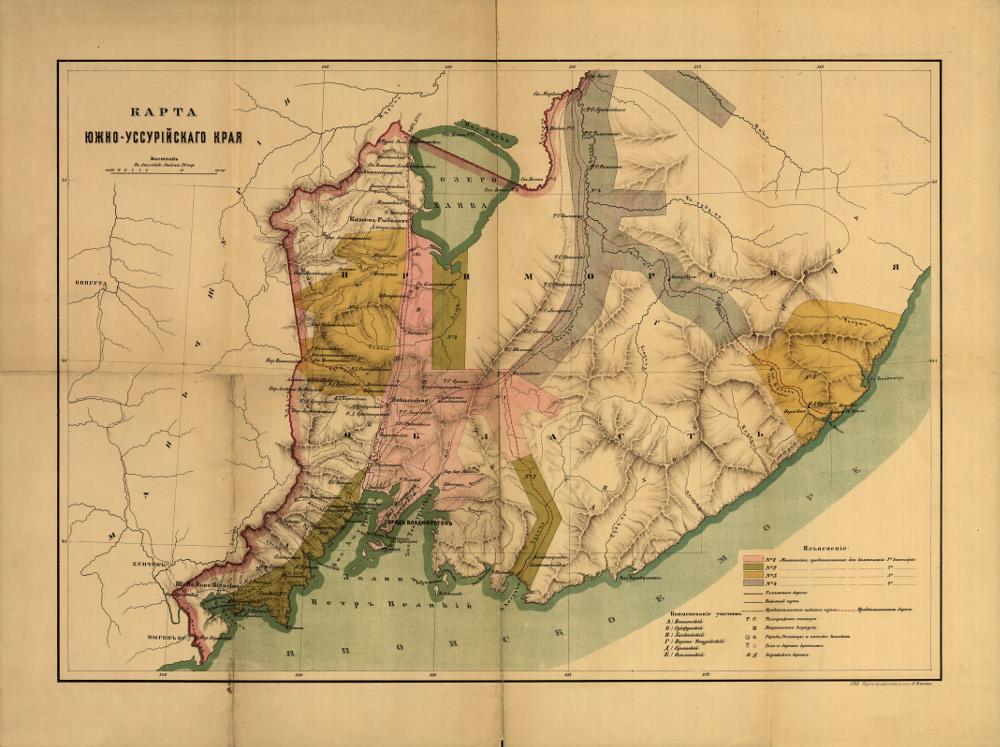 Карта Южно-Уссурийского края, 1880 г.