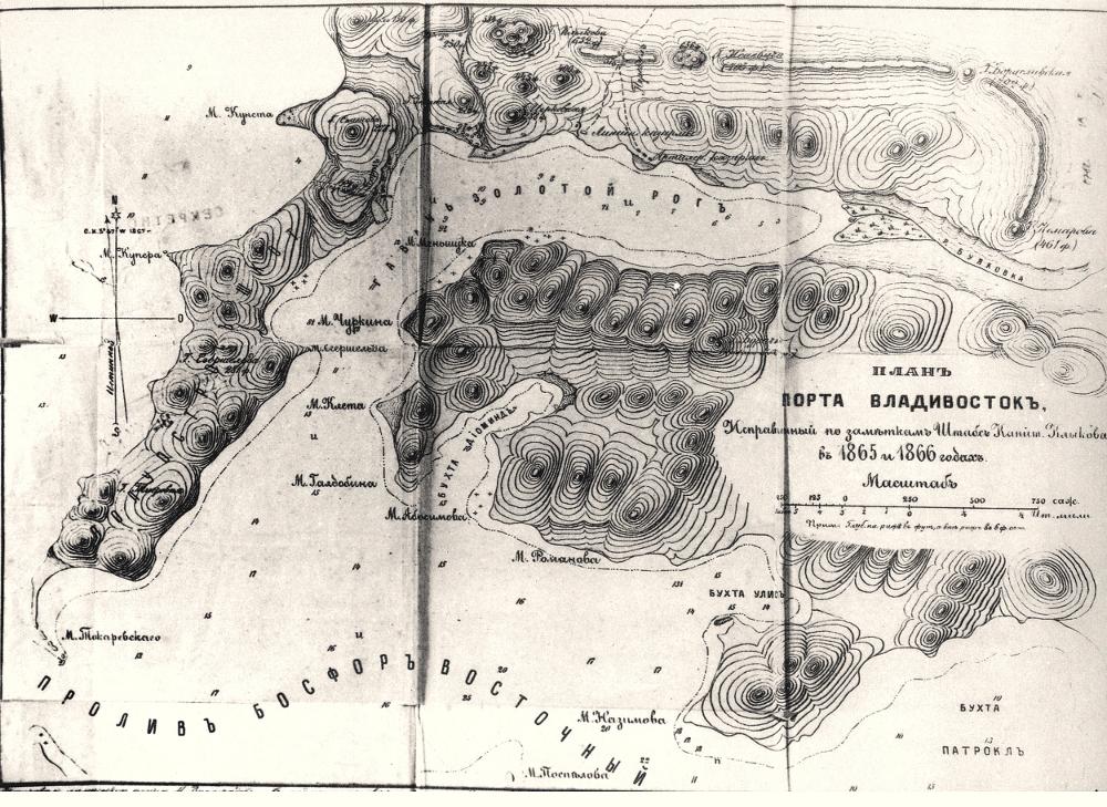 План порта Владивосток 1866 года