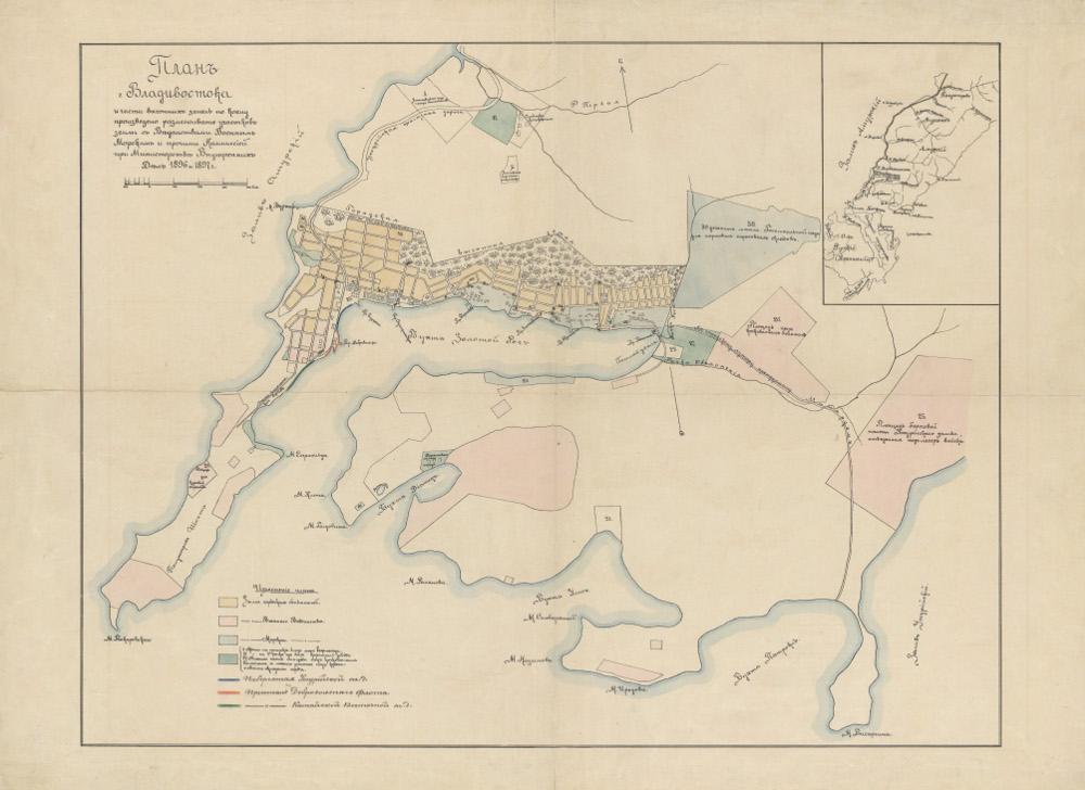 План Владивостока, 1896 г.