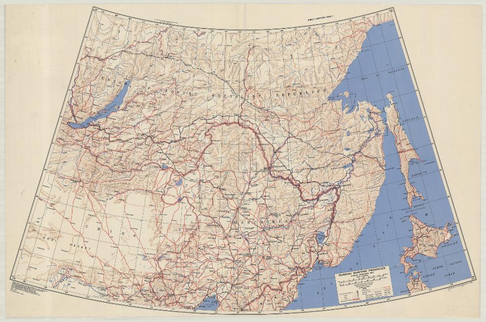 Карта Дальнего Востока, 1943 г.