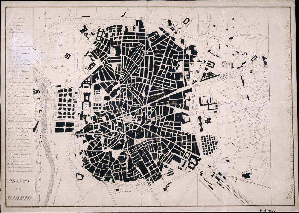 Карта Мадрида, 1871 г.