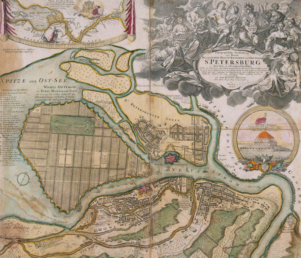 Карта Санкт-Петербурга, 1720 г.