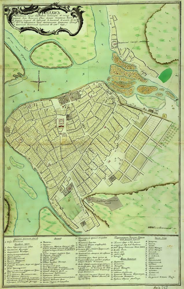 План Иркутска, 1784 г.