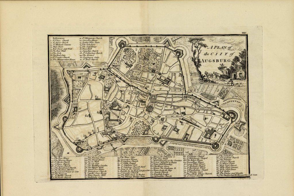 Карта Аугсбурга, 1771 г.
