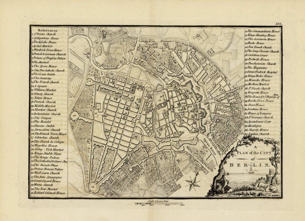 Карта Берлина, 1771 г.