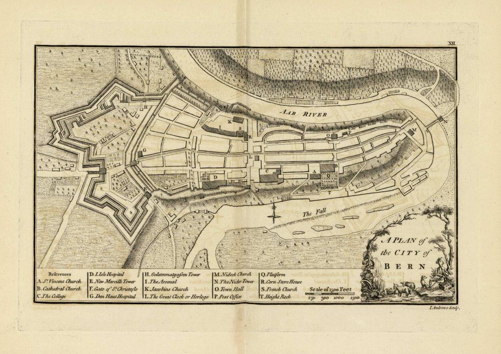 Карта Берна, 1771 г.