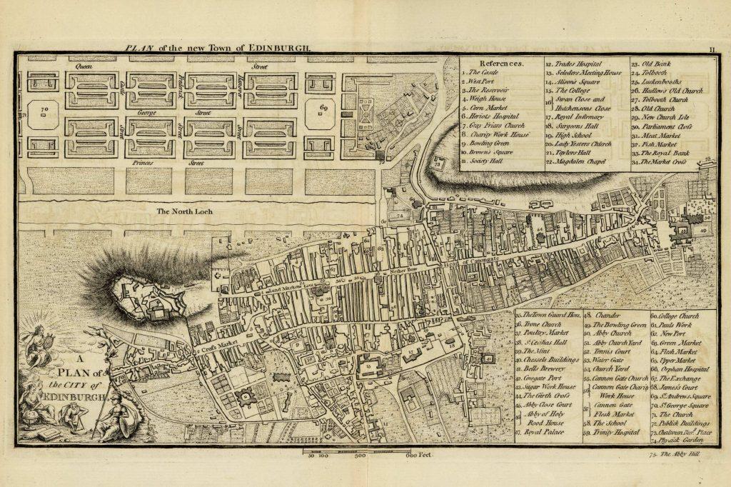 Карта Эдинбурга, 1771 г.