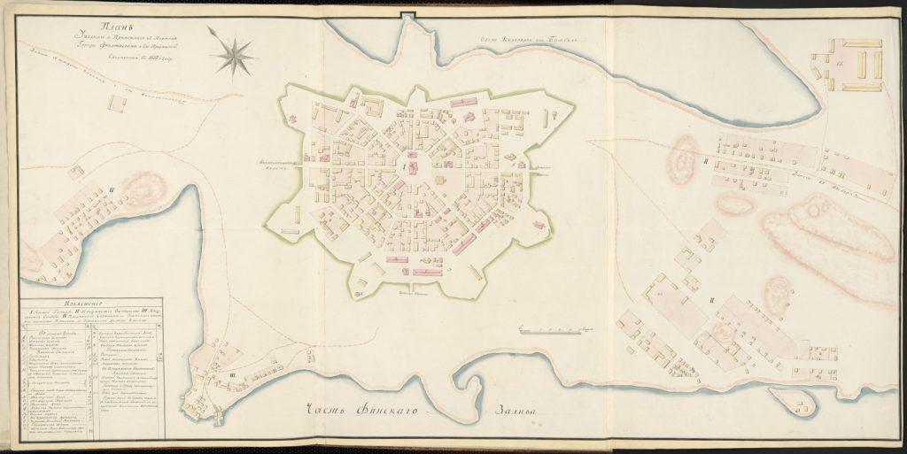 План города Фридрихсгам (Хамина), 1802 г.