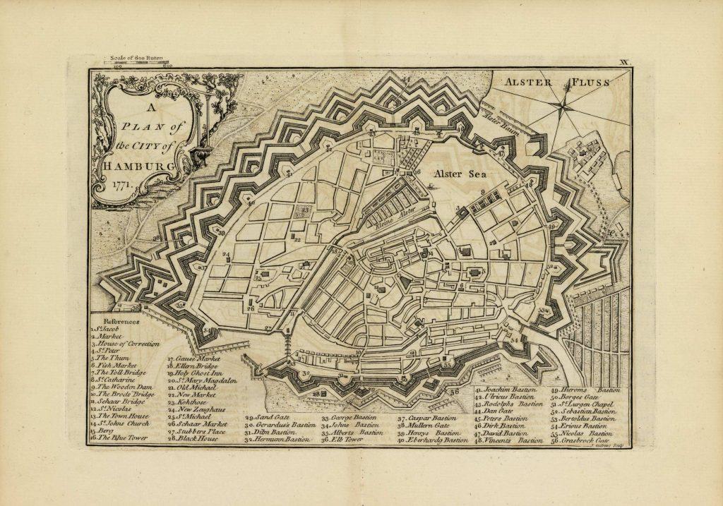 Карта Гамбурга, 1771 г.