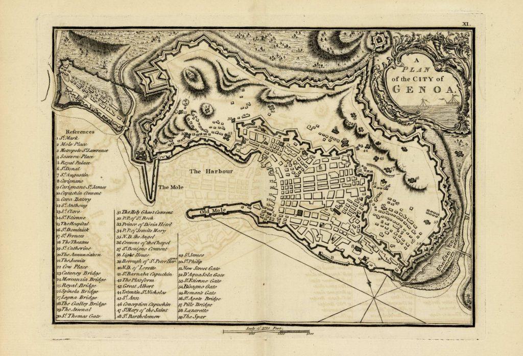Карта Генуи, 1771 г.