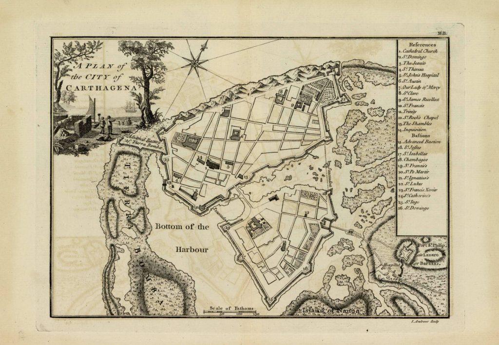 Карта Картахены, 1771 г.