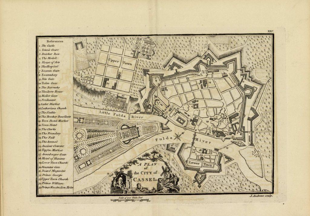 Карта Касселя, 1771 г.