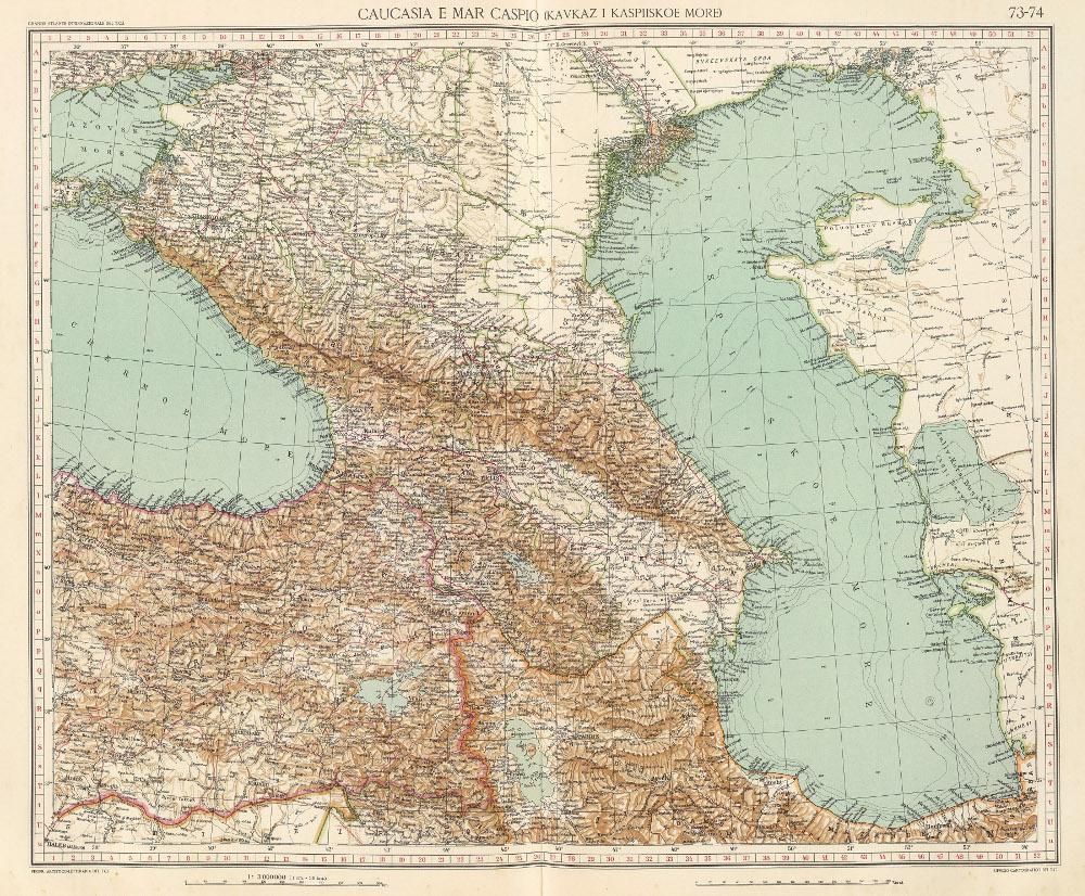 Карта Кавказа, 1929 г.