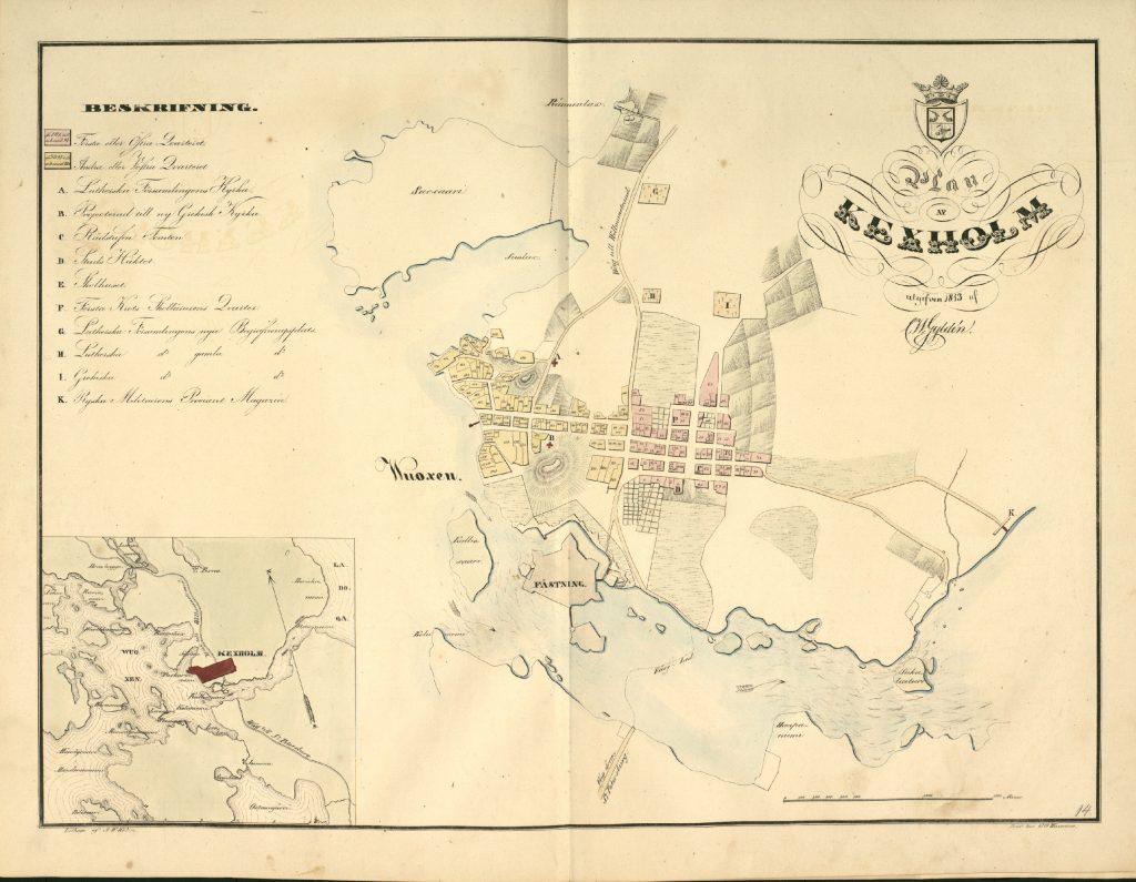 План города Кексгольм, 1843 г.