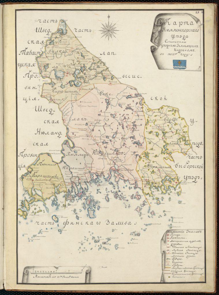 Карта Кюменского уезда, 1802 г.