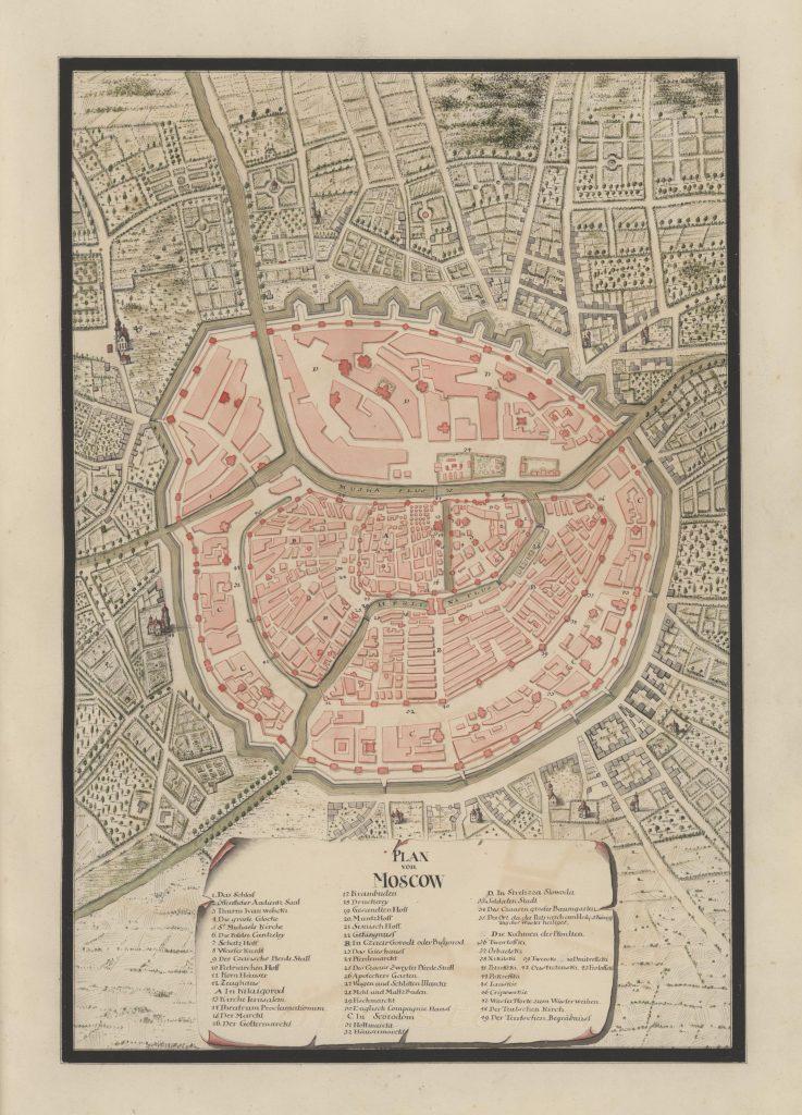 План Москвы, 1732 г.