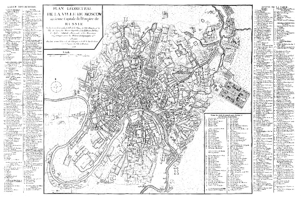 План Москвы, 1771 г.