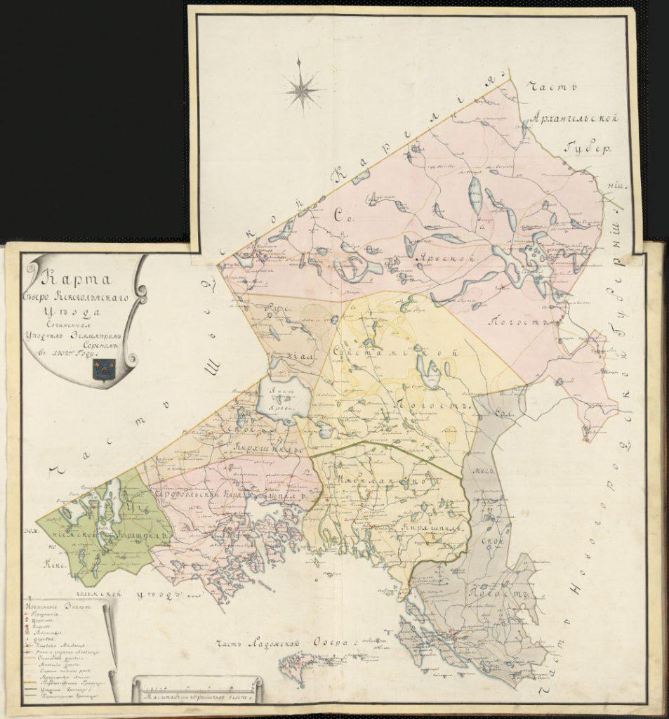 Карта Северо-Кексгольмского уезда, 1802 г.