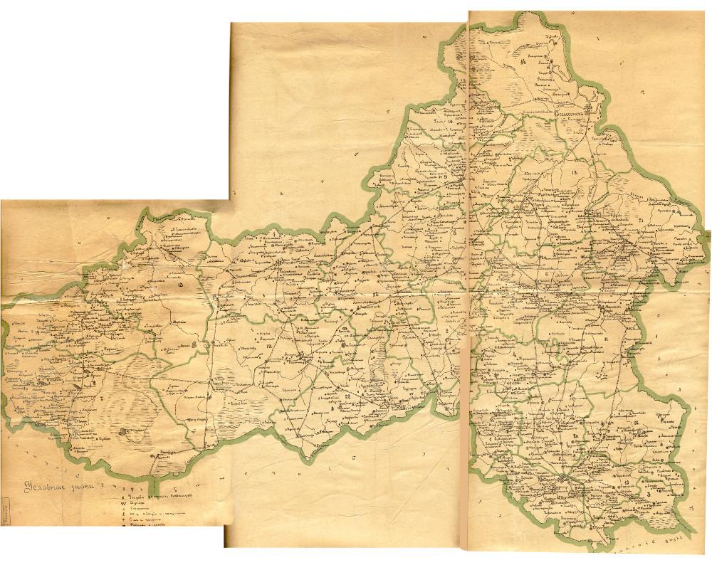 Карта Весьегонского уезда Тверской губернии, 1886-1890 гг.