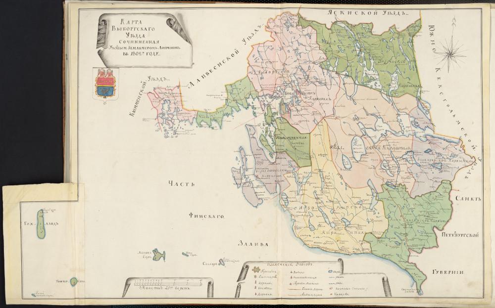 Карта Выборгского уезда, 1802 г.