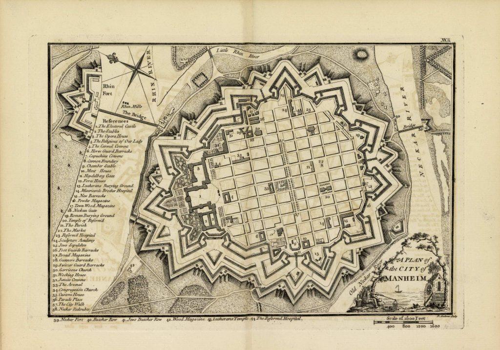 Карта Мангейма, 1771 г.