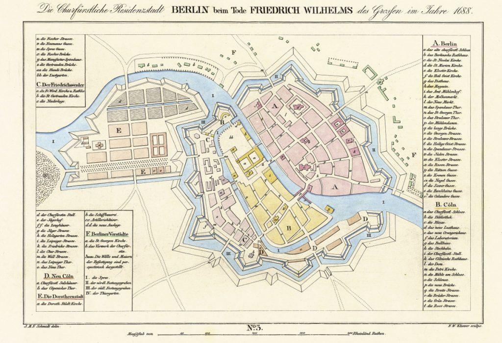 Карта Берлина, 1688 г.