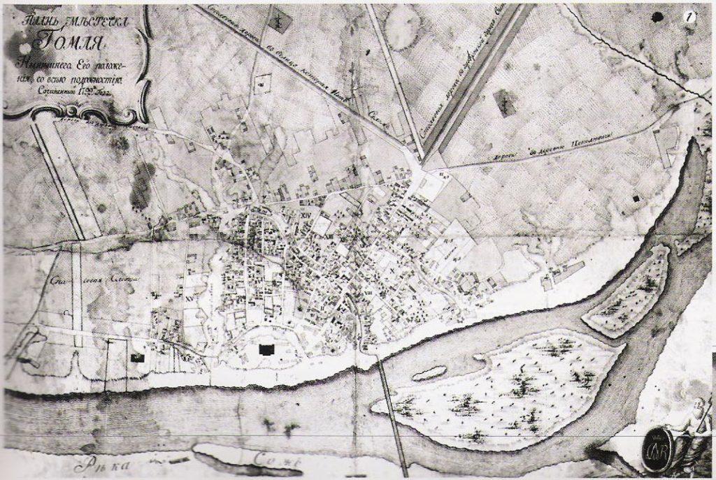 Карта Гомеля, 1799 г.