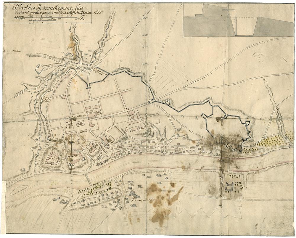 Карта Гродно, 1655 г.
