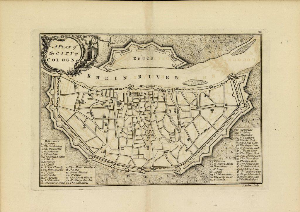 Карта Кёльна, 1771 г.