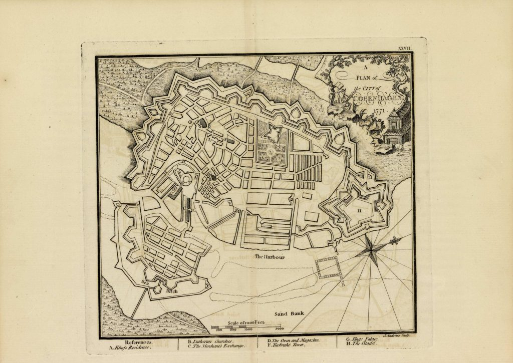 Карта Копенгагена, 1771 г.