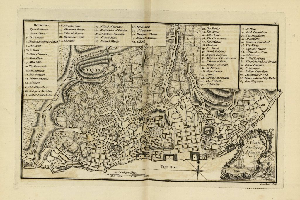 Карта Лиссабона, 1771 г.