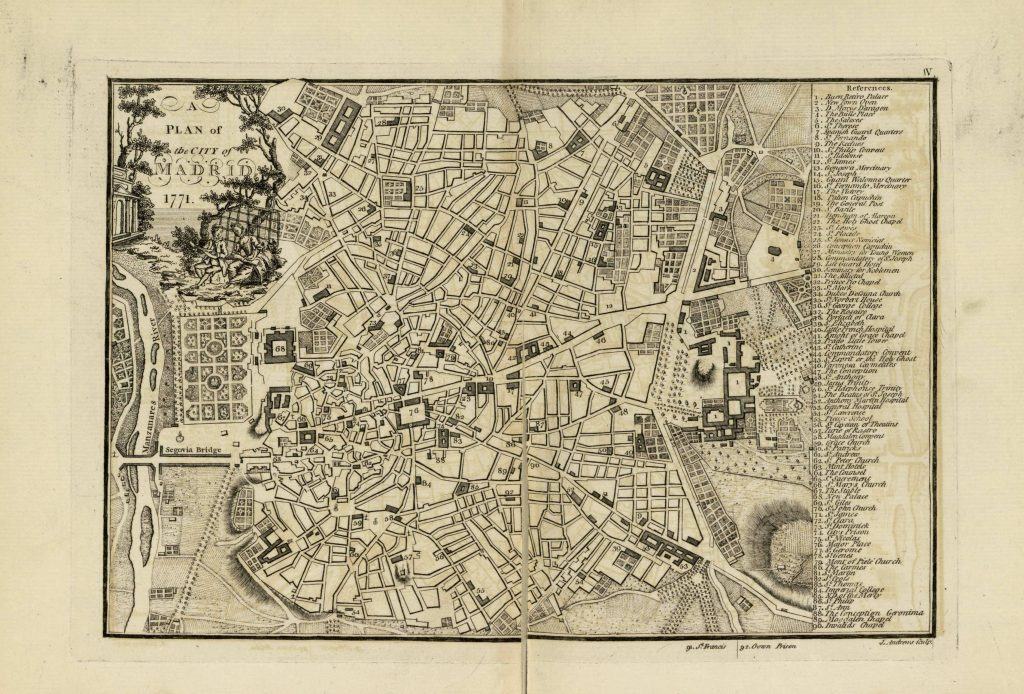 Карта Мадрида, 1771 г.