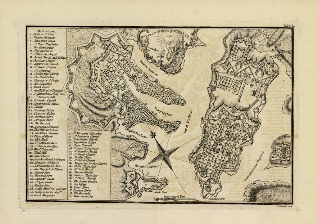 Карта Мальты, 1771 г.