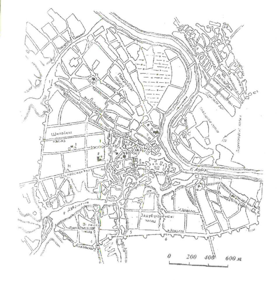 Карта Могилёва, XVII в.