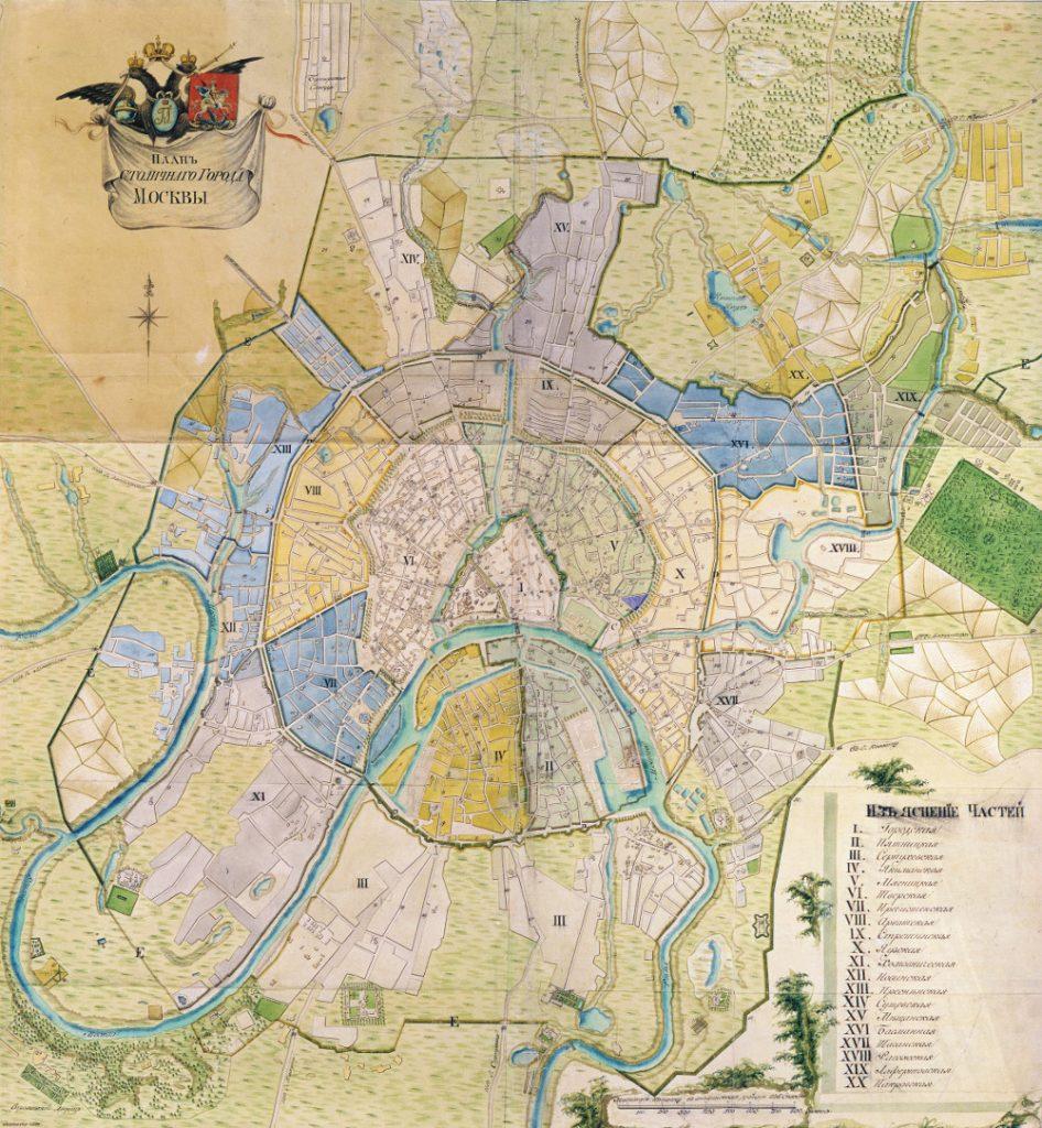 Карта Москвы, 1797 г.