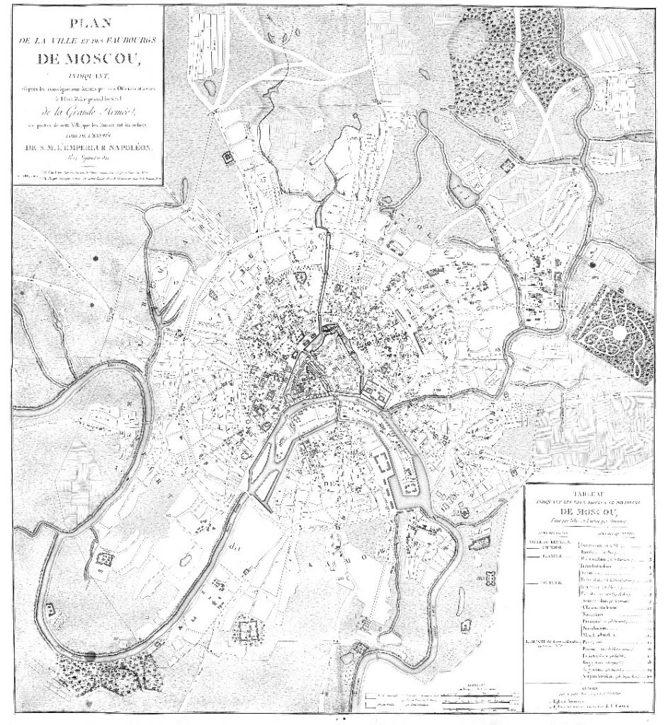 Карта Москвы, 1812 г.