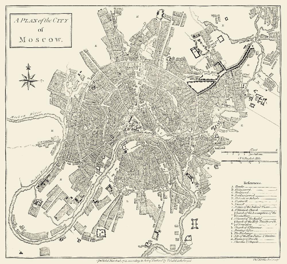 План Москвы, 1784 г.