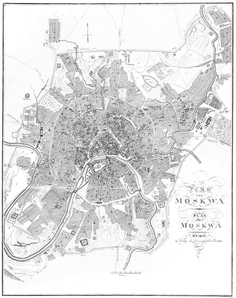 Карта Москвы, 1807 г.