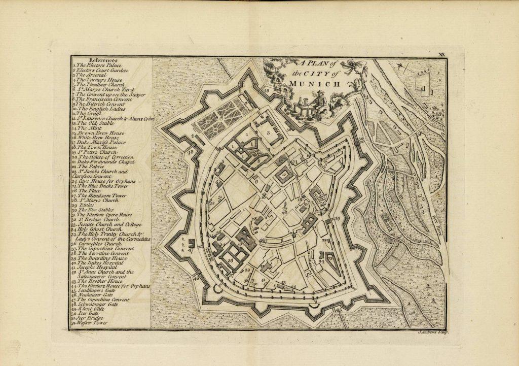 Карты Мюнхена, 1771 г.