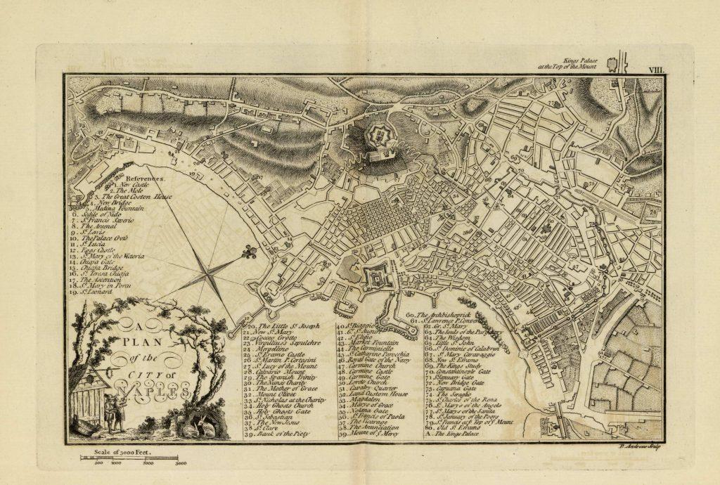 Карта Неаполя, 1771 г.