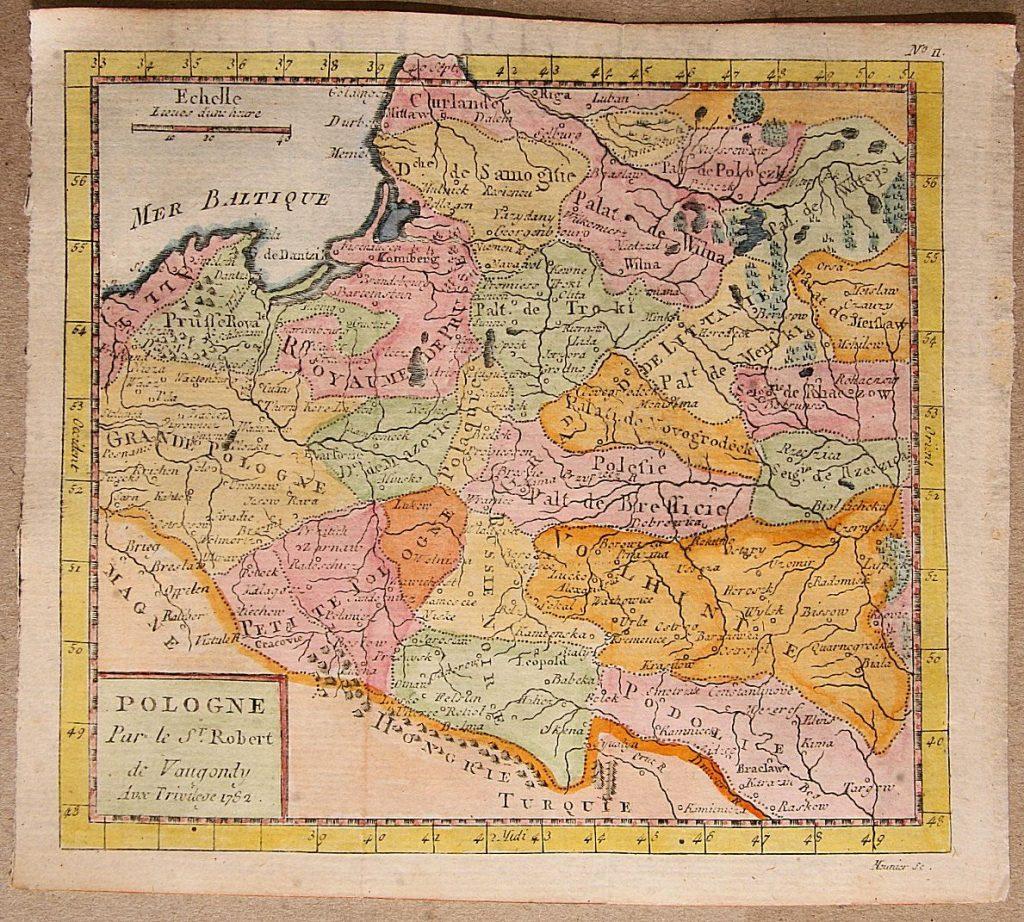 Карта Польши, 1781 г.