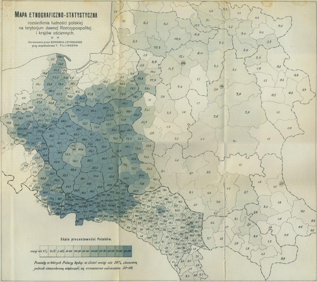 Этнографическая карта Польши, 1912 г.