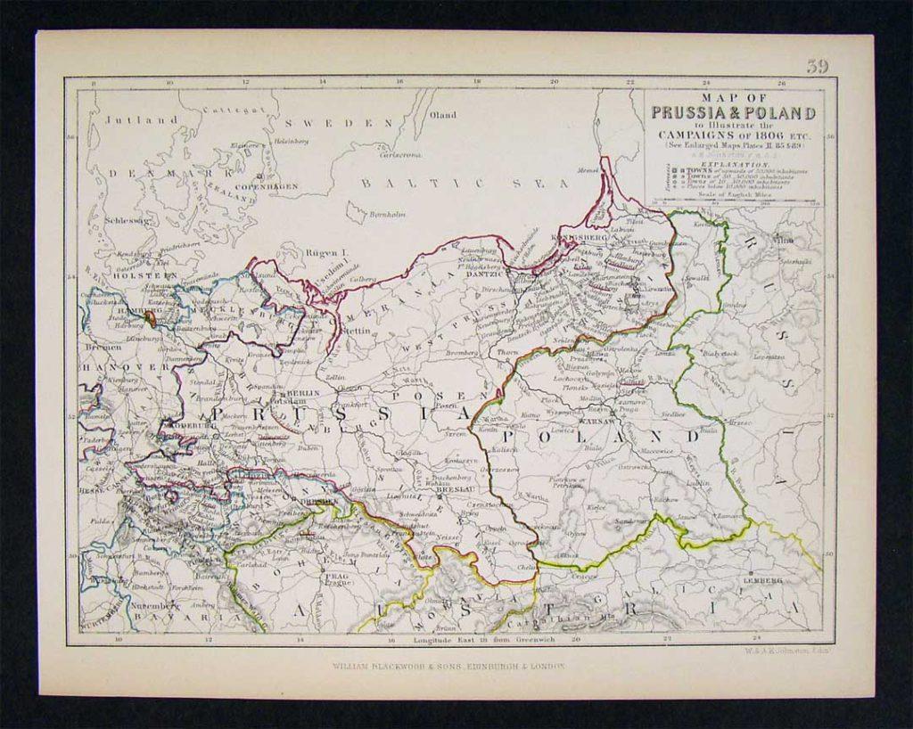 Великое герцогство Варшавское и Пруссия, 1806 г.