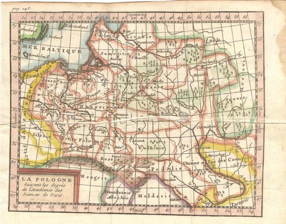 Карта Речи Посполитой, 1754-1758 гг.