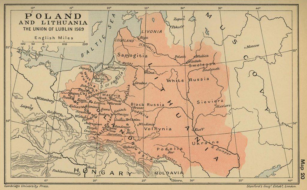 Карта Речи Посполитой, 1569 г.